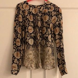 Anthropologie Maeve long sleeve button blouse xs